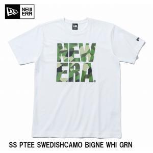 NEWERA パフォーマンス Tシャツ スウェディッシュカモ グリーン ビッグニューエラ ホワイト  メンズ  カジュアル ファッション ブランド メンズ|headwear-blake