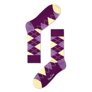 Happy Socks ハッピーソックスソックス 靴下 レディース メンズ【イエロー, パープル  アーガイル】COMBED COTTON|headwear-blake