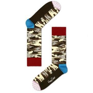 Happy Socks ハッピーソックスソックス 靴下 レディース メンズ【ブラウン、レッド カモフラージュ】COMBED COTTON|headwear-blake