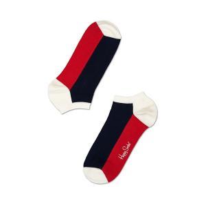 Happy Socks ハッピーソックスソックス アンクルソックス靴下 レディース メンズ【ホワイト、ネイビー、レッド ファイブカラー 】COMBED COTTON|headwear-blake