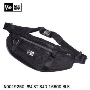 送料無料NEWERA  Waist Bag ウェストバッグ ブラック ホワイトロゴN0019560  WAIST BAG 1680D BLKニューエラ バッグ メンズ  ブランド|headwear-blake