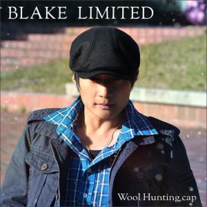 つばロング帽 男女兼用 帽子 ハンチング帽  ハンチングウール素材|headwear-blake