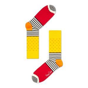 Happy Socks ハッピーソックスソックス 靴下 レディース メンズ【イエロー, オレンジ, ブルー, ホワイト, レッド  ドットストライプ 】COMBED COTTON|headwear-blake