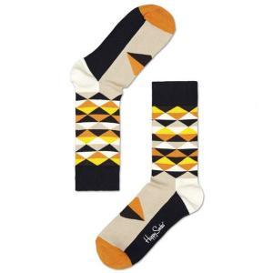 Happy Socks ハッピーソックスソックス 靴下 レディース メンズ【グレー、オレンジ、トライアングル】COMBED COTTON|headwear-blake