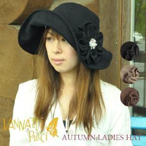 秋のレディースハット大きなコサージュサイズ調節可能 uvカット帽子 レディース 女優シルエット帽子|headwear-blake