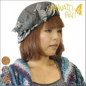 レディースニット帽子  ベレー帽 フワフワニット帽子小顔効果帽子 女性用防寒対策|headwear-blake