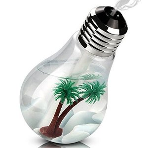 加湿器 卓上加湿器 USB 超音波式 大容量 400ml 加湿器 電球型 LED搭載7色変換 花粉症 花粉対策に 乾燥防止 health-city