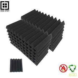 吸音材 防音 ブラック 24枚入 吸音材質ポリウレタン 消音 騒音 カーオーディオ health-city
