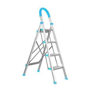脚立 はしご 青色 アルミ素材 踏み台 折りたたみ 軽量 折りたたみ脚立 ステップラダー|health-city