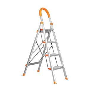 脚立 はしご オレンジ色 アルミ素材 踏み台 折りたたみ 軽量 折りたたみ脚立 ステップラダー|health-city