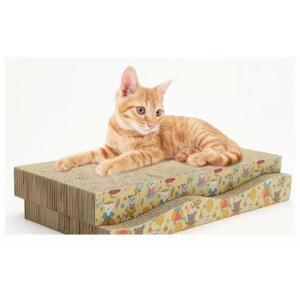 波型 猫 爪とぎ がりがりベッド 2枚セット ストレス発散 両面使用|health-city