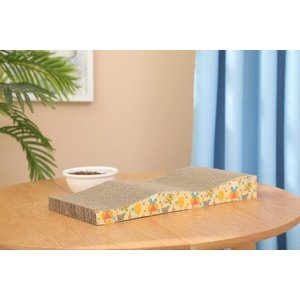 波型 猫 爪とぎ がりがりベッド 1枚セット ストレス発散 両面使用|health-city