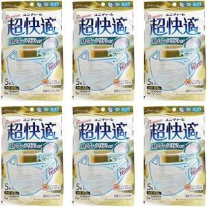 超快適マスク 息ムレクリアタイプ ふつう 5枚 6個 送料無料|health-city