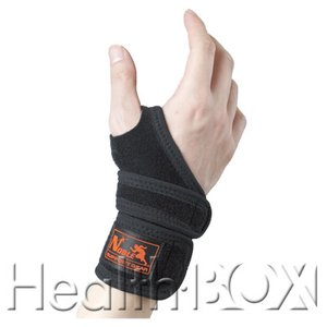 手首サポーター Noble リストレスキュー 8009(黒) 右フリーサイズ|healthbox