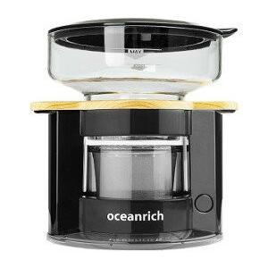 自動ドリップ コーヒーメーカー オーシャンリッチoceanrich ブラック UQ-CR8200BL...