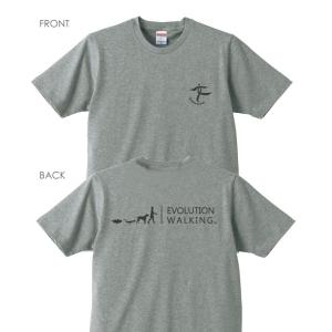 ウォーキングTシャツ C002 (ヘザーグレー)【Mens】|healthselect