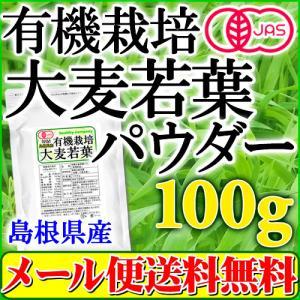 オーガニック 島根産 大麦若葉青汁パウダー100g (有機 大麦若葉 粉末 青汁 国産)【メール便 送料無料】|healthy-c