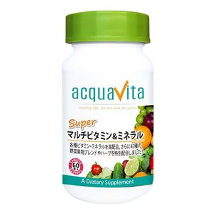 アクアヴィータ スーパーマルチビタミン&ミネラル 60粒  - ACQUA|healthy-good