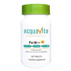 アクアヴィータ Fe(鉄)+ビタミン・ミネラル・アミノ酸 30粒  - ACQUA|healthy-good