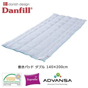 ダンフィル Danfill エンジェルブルー エアリー FLOWER FAIRYS オーバーレイ 敷きパッド ダブル 140×200cm |healthy-good