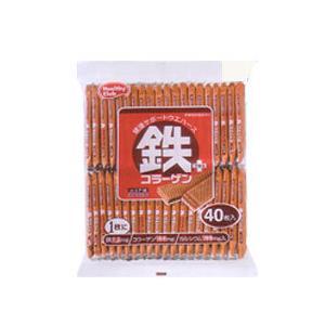 鉄プラスコラーゲンウエハース 40枚入×10個  - ハマダコンフェクト|healthy-good