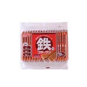 鉄プラスコラーゲンウエハース 18枚入×10個  - ハマダコンフェクト|healthy-good