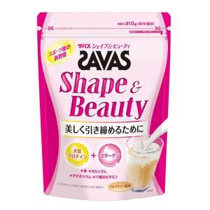 「ザバス(SAVAS) シェイプ&ビューティー 210g」は、、大豆プロテインとコラーゲンを含有した...
