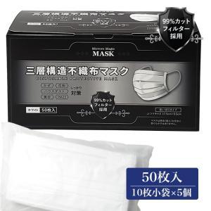 ミラーズマジック 三層構造不織布マスク 50枚入(10枚×5袋) [99%カットフィルター採用] - YSD healthy-good