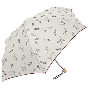 スケッチキャット ミニ 55cm 折りたたみ傘 超軽量 MK495300 オフホワイト|healthy-living