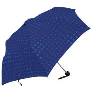 手描きドット ミニスリム 55cm 折りたたみ傘 超軽量 MK496500 ネイビー|healthy-living