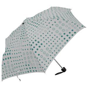 手描きドット ミニスリム 55cm 折りたたみ傘 超軽量 MK496500 グレー|healthy-living