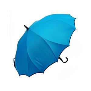 VIVID-FLOW シームレス(一枚張り)長傘 60cm パイピング無地 FTW-001 ターコイズ|healthy-living