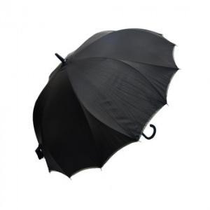 VIVID-FLOW シームレス(一枚張り)長傘 65cm パイピング無地 FTW-002 ブラック|healthy-living