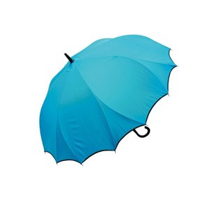 VIVID-FLOW シームレス(一枚張り)長傘 65cm パイピング無地 FTW-002 ターコイズ|healthy-living