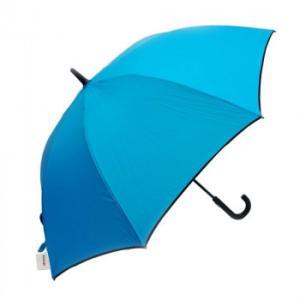 VIVID-FLOW 耐風設計UMBRELLA 長傘 65cm 無地パイピング FTW-0011 ターコイズ|healthy-living