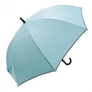 VIVID-FLOW 耐風設計UMBRELLA 長傘 65cm 無地パイピング FTW-0011 スモーキーグリーン|healthy-living