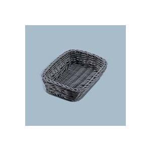 WBS2501 樹脂バスケット角長 40cm こげ茶 深型|healthy-living