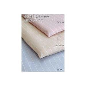 西川リビング Plune. ドットストライプ ベッドフィッティパックシーツS 100×200×30 PL114 2123-04000|healthy-living