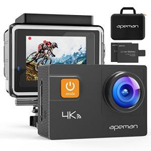 APEMAN アクションカメラ 4K WIFI搭載 2000万画素 UHD 2インチLCD 画角調整...