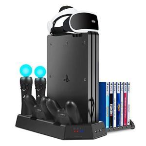 KetenTech 最新版 PSVRスタンド PS4/PS4 PRO/PS4 SLIM縦置き 充電ス...