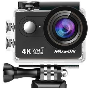 【進化版】MUSON(ムソン)アクションカメラ 4K高画質 手振れ補正 WiFi搭載 外部マイク端子...