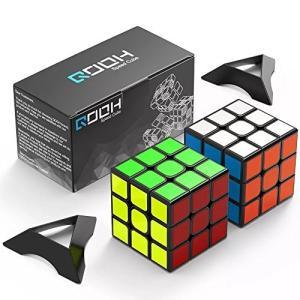 スピードキューブ QOOH 競技専用ver.2.0 世界基準配色 2個 セット 回転スムーズ 予備のシール パズルスタンドつき|healthysmile