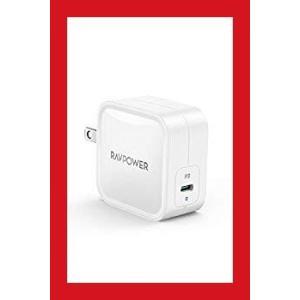 RAVPower 61W USB-C 急速充電器(世界最小最軽量クラス) GaN (窒化ガリウム)採...