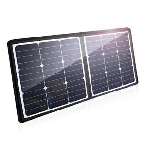 Poweradd ソーラーチャージャー 50W ソーラー充電器 軽量 薄型 折りたたみ式 ソーラーパ...
