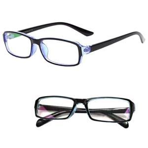 パソコン用眼鏡 PCメガネ ブルーライト 青色光 UV カット メンズ レディース クリーンクロス ケース セット クリアレンズ ブルーフレーム|healthysmile