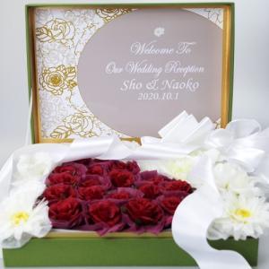 ウェルカムボード 結婚式 おしゃれ 完成品 プチギフト お菓子 名入れ クオーレ ドラジェ 40個セット|heart-couture