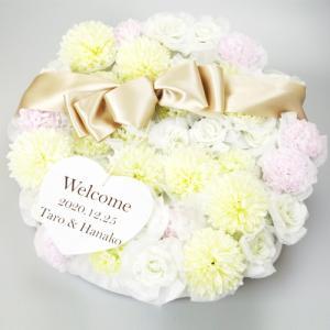 ウェルカムボード 結婚式 おしゃれ 完成品 プチギフト おしゃれ 安い プチギフト お菓子 名入れ フローリア ドラジェ 40個セット|heart-couture