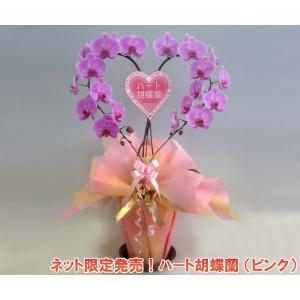 ハート胡蝶蘭大輪タイプピンク 産地直送ネット限定販売 幸福が飛んでくる 結婚祝いや結婚記念日におすすめです|heart-flower