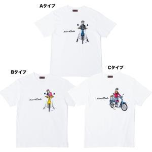 Honda(ホンダ) SUPER CUB(スーパーカブ) イラスト Tシャツ TV-Y5Z ホワイト