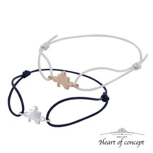 送料無料 シルバー ペアブレスレット ハートオブコンセプト プレゼント 誕生日 HCB106PK-HCB106WH|heart-of-concept